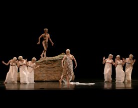 Students performing the ballet